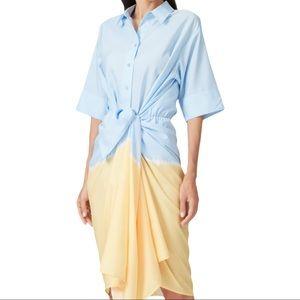 TOME Patchwork Tie Dye Dress 0